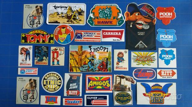 Adesivi pubblicitari jeans anni 70 / 80 / 90