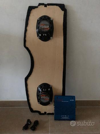 Pannello audio cofano Peugeot 206 + amplificatore