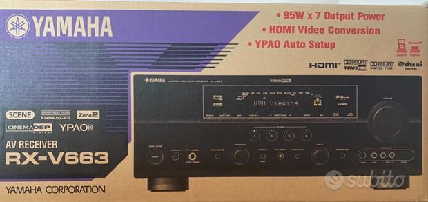 Home theater 5.1 Yamaha RX-V663 con Canton CX60