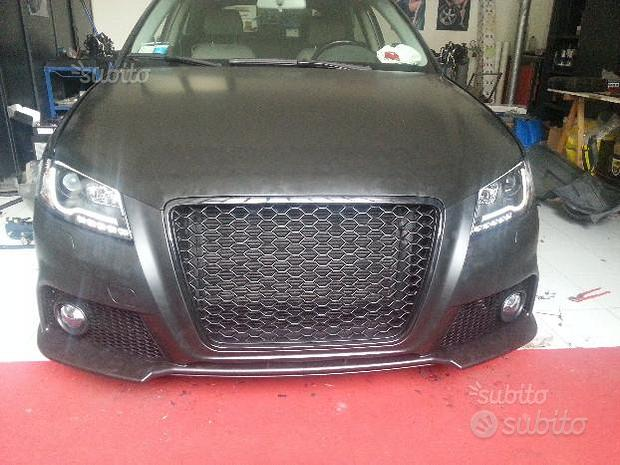 Paraurti anteriore AUDI A3 8P 08-12 RS3 Look ABS