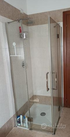 Box doccia vetro temperato 100x80
