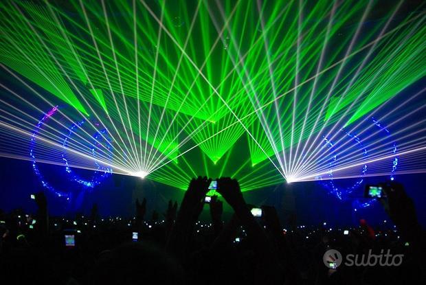 Spettacolo laser show