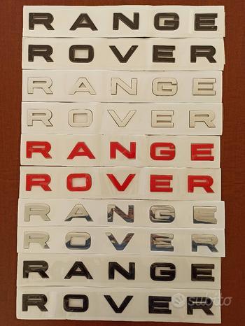Scritte originali RANGE ROVER Evoque Sport HSE