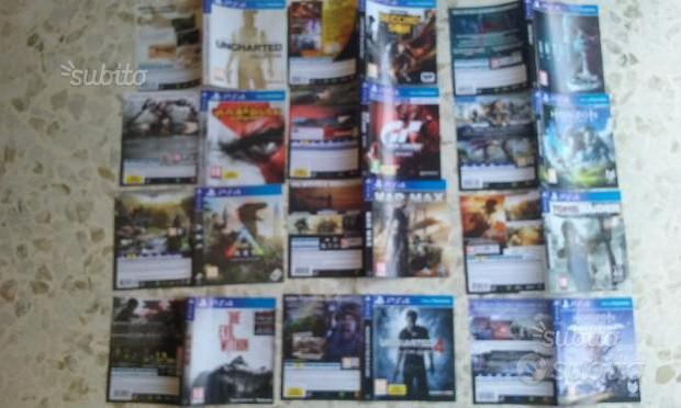 Cover originali giochi ps4