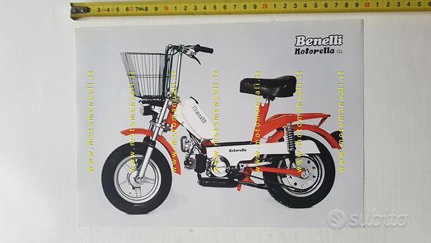 Benelli 50 Motorella GL 1975 depliant brochure