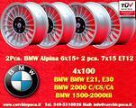 Cerchi BMW Alpine 2pc 6x15+2pc 7x15 4x100 E30 E21
