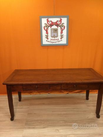 Tavolo legno ciliegio e abete seconda metà 1800 80