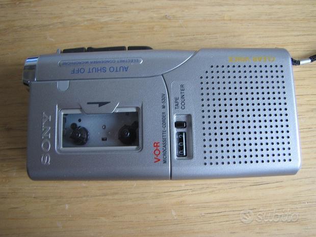 Registratore SONY M530V per micro cassette