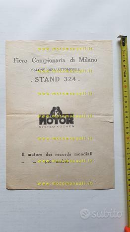 "Motori ""K"" Küchen 1927 depliant Italiano originale"