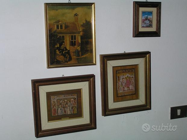 Lotto 4 quadri Teodolina, paesaggi