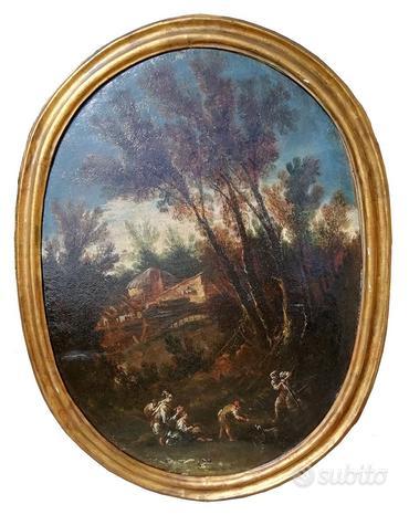 A.Francesco Peruzzini,Paesaggio con Figure - XVII
