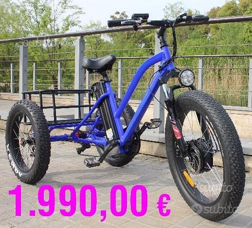 BICI ELETTRICA 3 tre ruote CARGO FAT BIKE TRIKE
