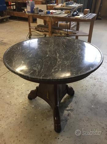 Tavolo antiquariato rotondo marmo carlo x