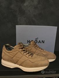 Hogan interactive uomo pelle scamosciata marrone c - Abbigliamento ...