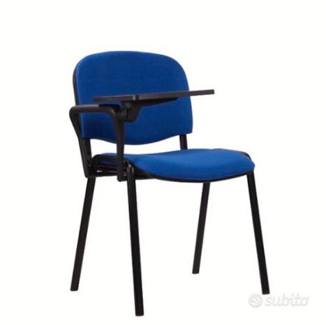 Sedia da Ufficio e d'Attesa - Blu con scrittoio