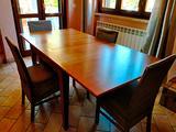 Tavolo soggiorno legno noce nazionale
