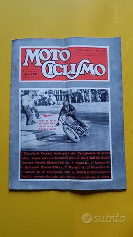 MOTOCICLISMO Rivista fascicolo n.25 1947 Tenni
