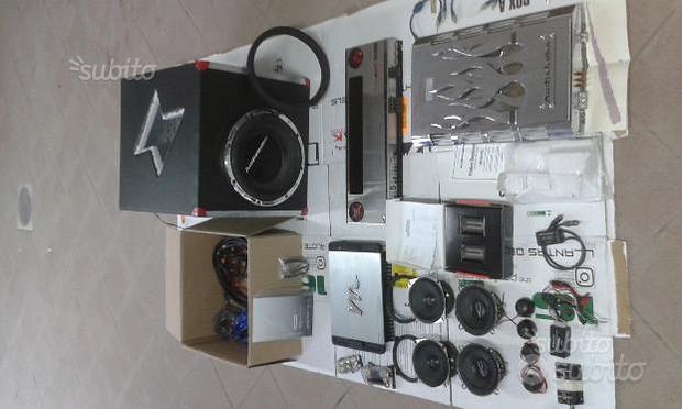 Impianto stereo auto completo