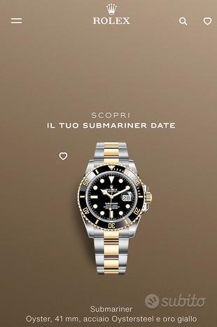 Rolex Submariner acciaio e oro 126613LN