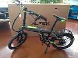Bici elettrica garelli virtus fd301 grigia/verde