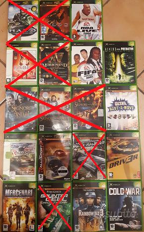 Giochi Xbox 1° generazione per collezionisti