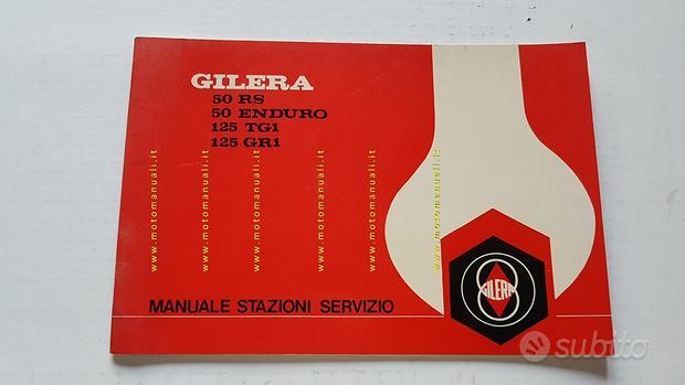 Gilera 50 RS\End.125 TG1\GR1 1977 manuale officina