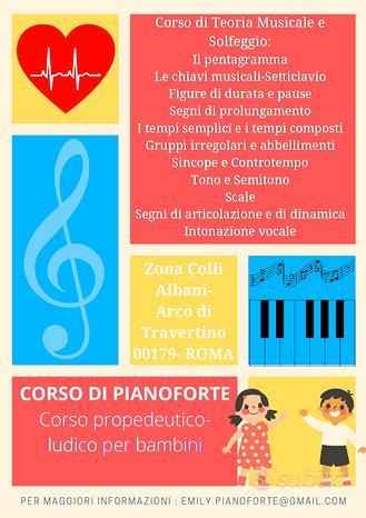 Lezioni di pianoforte e t.musicale e solfeggio