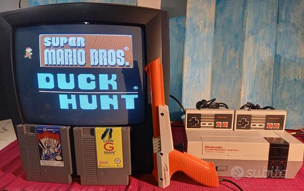 NINTENDO NES con pistola console vintage   giochi
