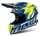 Casco airoh twist enduro cross TG L blu giallo MX2