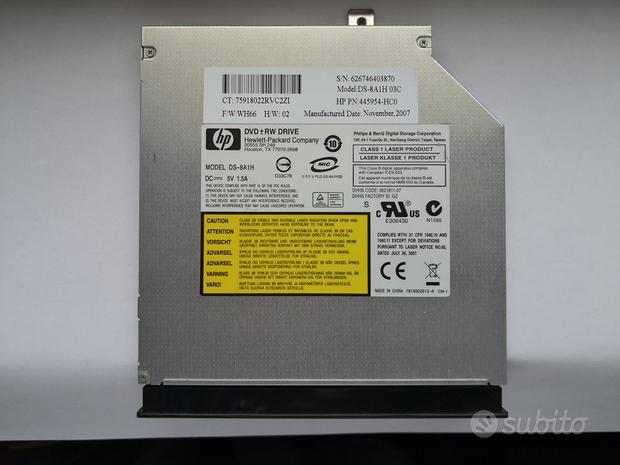 HP DS-8A1H 03C Masterizzatore e Lettore DVD/CD