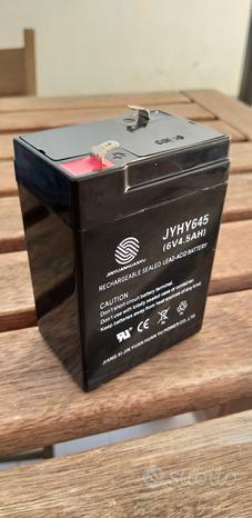 Batterie Ricaricabili 6V 4,5 AH