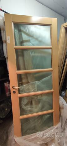 Porte Massello legno vetro a massa
