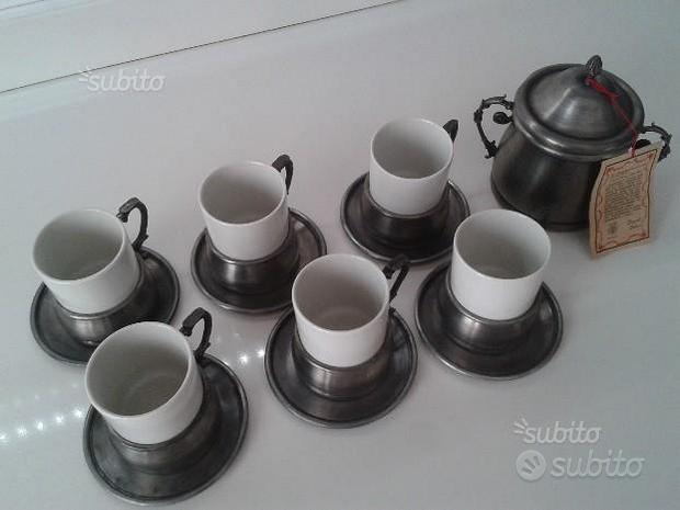 Servizio caffè in peltro