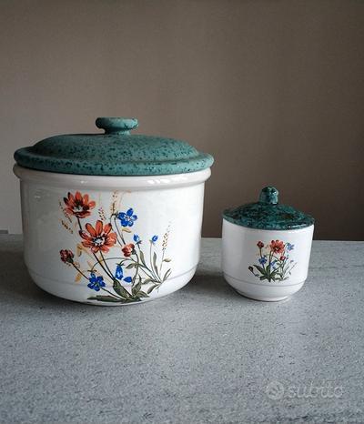 Set due contenitori ceramica