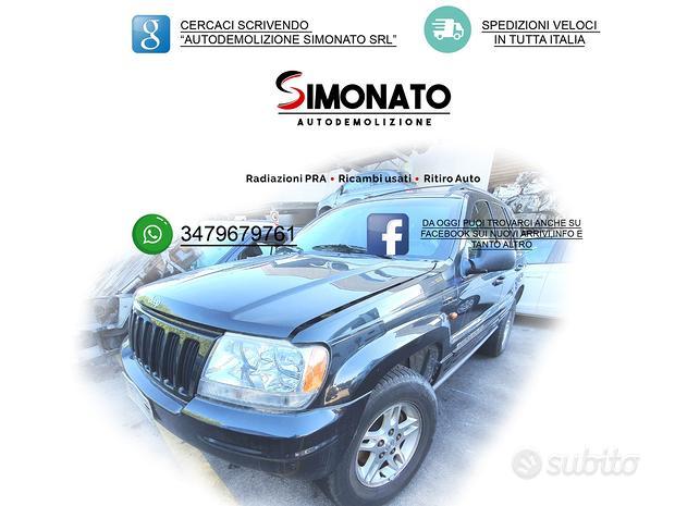 Ricambi jeep grand cherokee sport 4x4 3.0 crd 2002