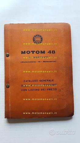 Motom 48 modelli fino 1958 catalogo ricambi