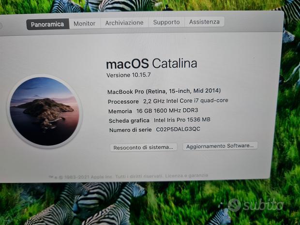 Apple Macbook pro 15 retina 16gb i7