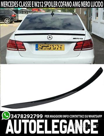 Mercedes classe e w212 spoiler cofano nero lucido