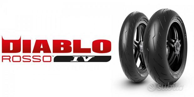 Coppia pneumatici Pirelli Diablo rosso 4 120 +180
