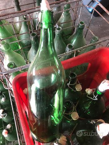 Bottiglioni / pintoni da 2 litri in vetro verde