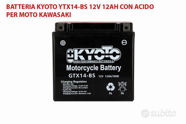 Batteria kyoto ytx14-bs 12v 12ah per moto kawasaki