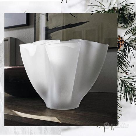 Vaso fontana arte cartoccio nuovo ed imballato