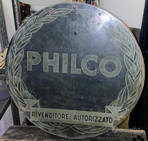 Insegna d'epoca Philco e altre