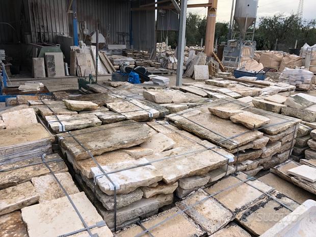 Pietre da pavimenti di recupero selezionate