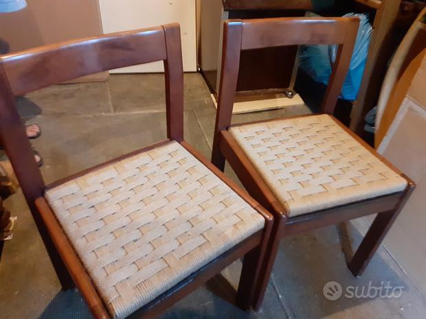 Sedie in legno impagliate