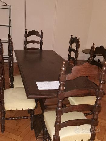 Tavolo lungo in legno massello