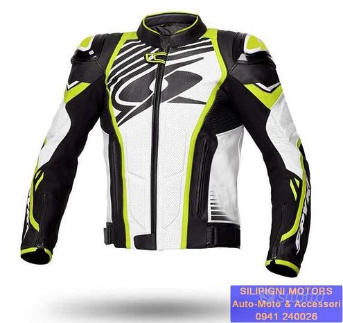 Giacca Moto in Pelle SPYKE ARAGON EVO Racing