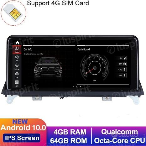 ANDROID GPS USB SD Bluetooth navigatore BMW X5 E70