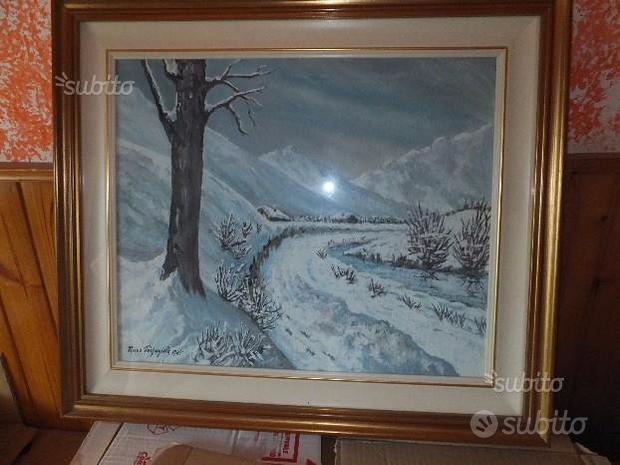 Parpagiola mario 1985 paesaggio invernale 50 x 40
