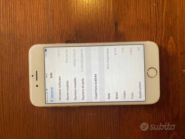 IPhone 6s 6 s 128gb 128 gb cover cuffie caricabatt